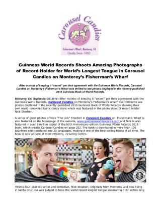 Guinness World Records Shoots Amazing Photographs of Record