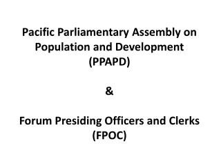 PPAPD/FPOC