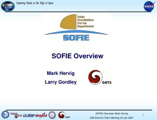 SOFIE Overview