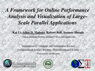 A Framework for Online Performance Analysis and Visualization of Large-Scale Parallel Applications
