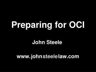 Preparing for OCI