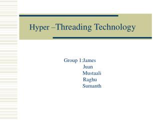 Hyper – Threading Technology