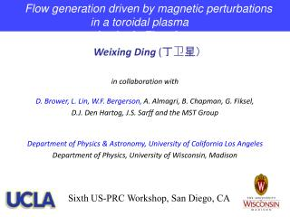 Weixing Ding  ( 丁卫星) in collaboration with