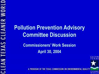 Pollution Prevention Advisory Committee Discussion