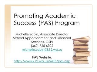 Promoting Academic Success (PAS) Program