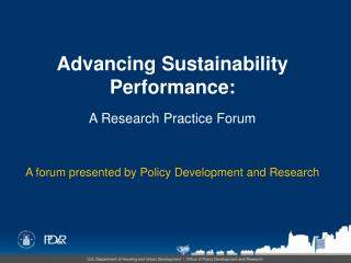 Advancing Sustainability Performance: A Research Practice Forum