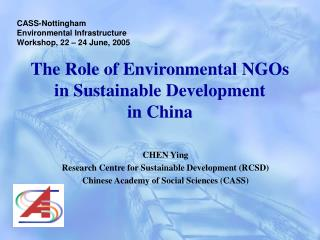 The Role of Environmental NGOs  in Sustainable Development  in China