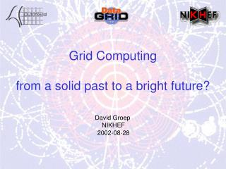 Grid Computing from a solid past to a bright future?