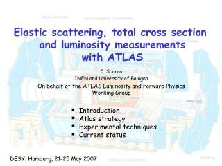 Elastic scattering, total cross section  and luminosity measurements  with ATLAS