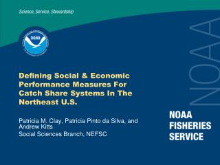 Defining Social & Economic Performance Measures For Catch Share Systems In The Northeast U.S.