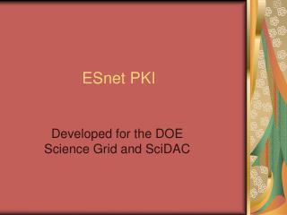 ESnet PKI