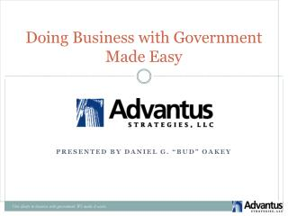 Doing Business with Government Made Easy