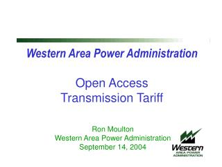 Western Area Power Administration Open Access Transmission Tariff