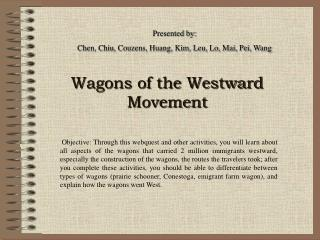 Wagons of the Westward Movement