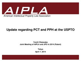 Update regarding PCT and PPH at the USPTO