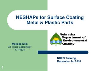 NESHAPs for Surface Coating Metal & Plastic Parts