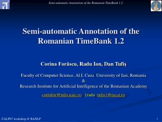 Semi-automatic Annotation of the Romanian TimeBank 1.2