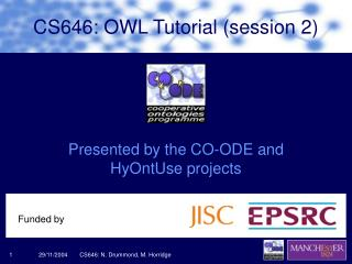 CS646: OWL Tutorial (session 2)