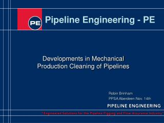 Pipeline Engineering - PE