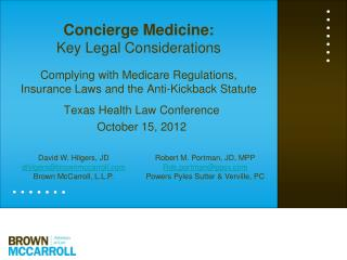 Texas Health Law Conference  October 15, 2012