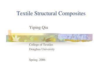 Textile Structural Composites