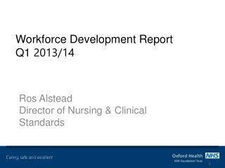 Workforce Development Report Q1  2013/14