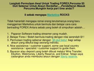 Kerja part time untuk anda bermula trading forex dengan perc