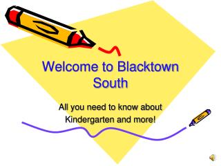 Welcome to Blacktown South