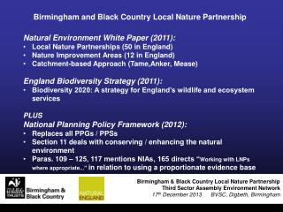 Birmingham and Black Country Local Nature Partnership