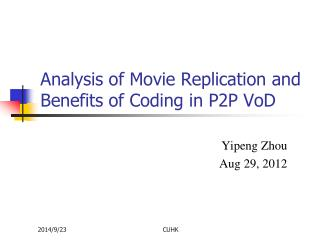 Analysis of Movie Replication and Benefits of Coding in P2P VoD