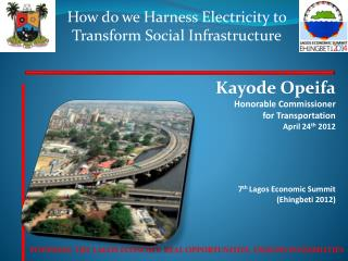 How do we Harness Electricity to Transform Social Infrastructure