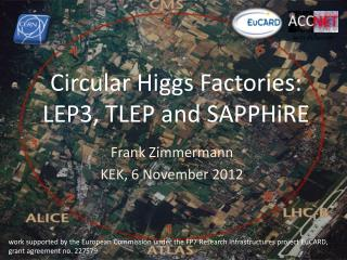 Circular Higgs Factories:  LEP3, TLEP and SAPPHiRE