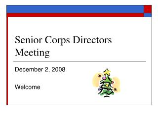Senior Corps Directors Meeting