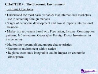 CHAPTER 4 : The Economic Environment