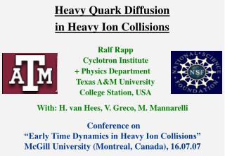 Heavy Quark Diffusion  in Heavy Ion Collisions