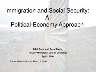 Immigration and Social Security: A Political-Economy Approach