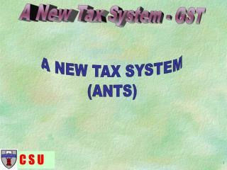 A NEW TAX SYSTEM (ANTS)