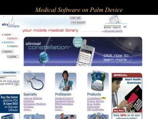 Medical Software on Palm Device
