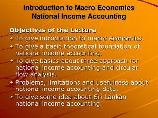 an analysis of the macroeconomics and the national income
