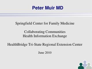 Peter Muir MD