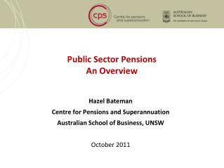 Public Sector Pensions An Overview