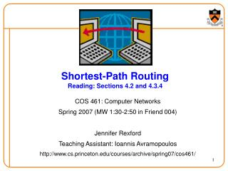 Shortest-Path Routing Reading: Sections 4.2 and 4.3.4