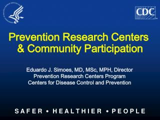 Prevention Research Centers  & Community Participation