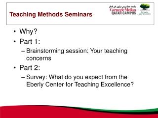 Teaching Methods Seminars