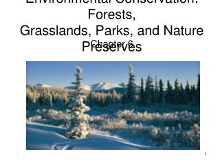 Environmental Conservation: Forests, Grasslands, Parks, and Nature Preserves