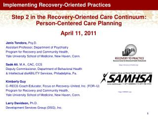 Implementing Recovery-Oriented Practices