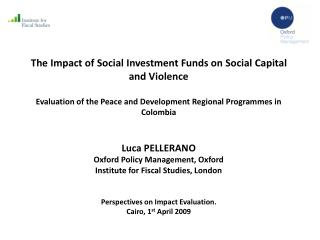 The Impact of Social Investment Funds on Social Capital and Violence