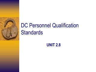 DC Personnel Qualification Standards