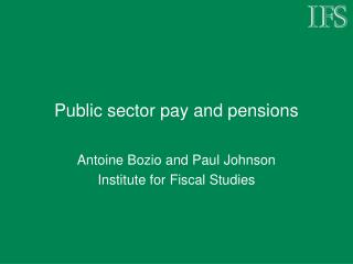 Public sector pay and pensions