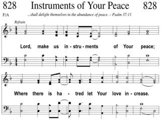 Lord,     make    us     in  -  stru - ments             of     Your       peace;